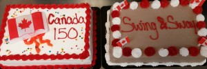 Canada Day 150 cakes