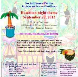 Hawaiian Nights at Swing and Sway