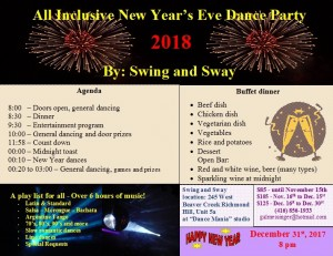 New Year Party Swing and Sway 2018