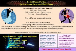 Social Dance party by Swing and way June 21