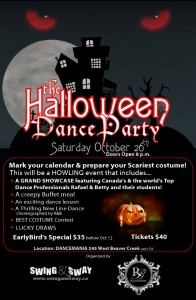 Haloween party on Saturday October 26th